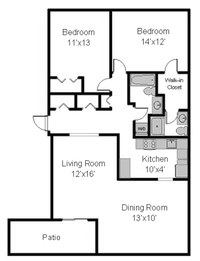 Cumberland Court 659 A and B (2 bedrooms, 2 bath)